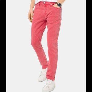 Michael kors red/pink overdyed denim jean slim-fit